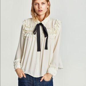Zara bow blouse